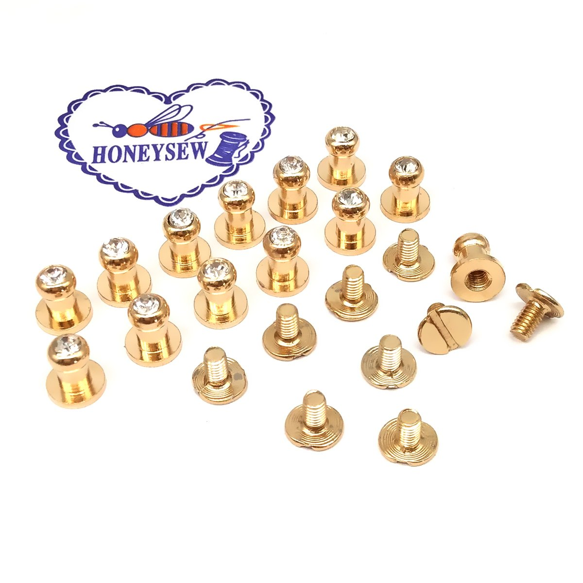 Yellow 100pcs Colorful Cone Spikes Screwback Studs DIY Craft Cool Rivets Punk Stud Coincal 7x10mm 1//43//8
