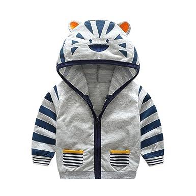b99689dfc Amazon.com: MRxcff Autumn Winter Jacket Girls Boys Infant Toddler Kids Baby  Boy Girl Cartoon Animal Hooded Zipper Tops Clothe: Clothing