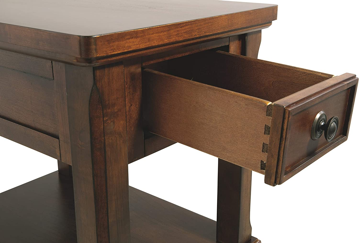 Signature Design by Ashley - Porter Chairside End Table, Rustic Brown