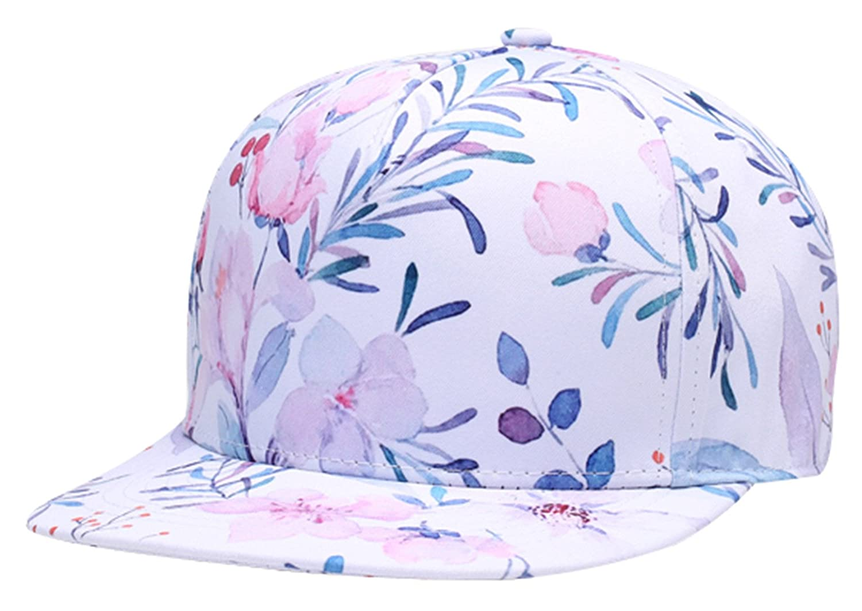 Snapback Flatbrim Cap Unisex Breathable Hip Hop Hat with Adjustable Closure