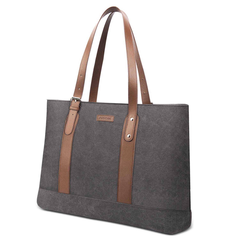 403e690d8646 FosTak Women 15.6 inch Laptop Tote Bag Lightweight Tablet Shoulder ...