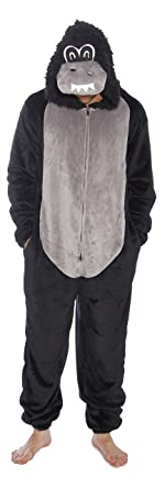 6428-M-Gorilla #FollowMe Men's Adult Onesie / Men's Adult Onesies / Pajamas
