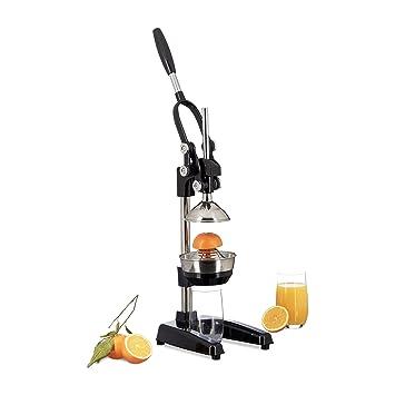 Compra Relaxdays exprimidor naranjas manual Z8, prensa profesional, en negro en Amazon.es