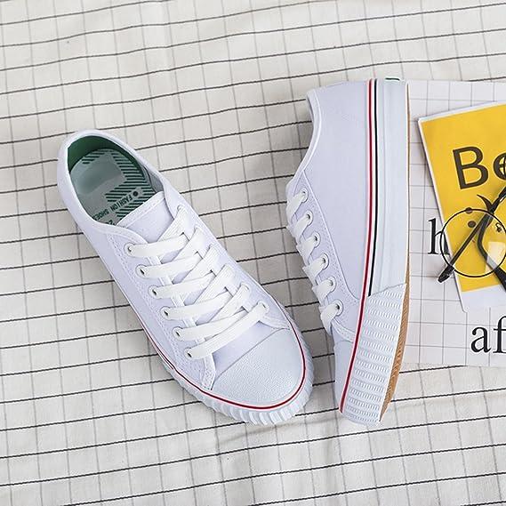 YaNanHome Zapatos para Hombre/Alpargatas Zapatos de Lona Femeninos Salvajes Estilo Coreano Estudiantes Harajuku Zapatos de Moda Zapatos de Moda (Color ...
