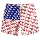 MaaMgic Mens American Flag Swim Trunks Bathing