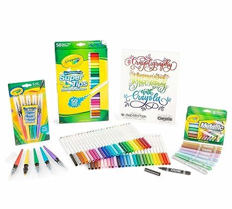 Amazon Com Crayola Crayoligraphy Calligraphy Kit Hand Lettering