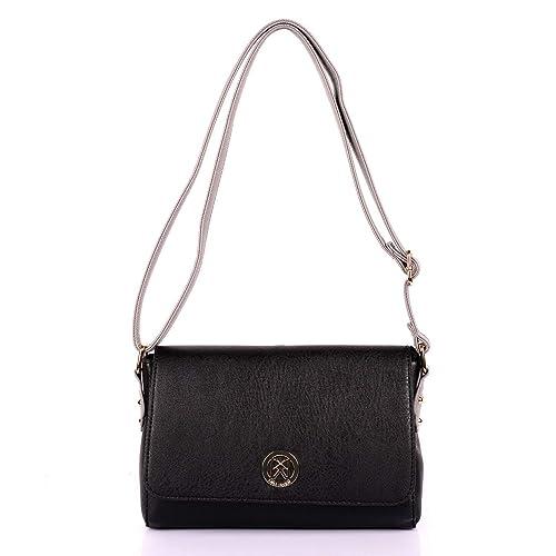 Karla Hanson Merry Women s Crossbody Bag - Black Grey  Handbags ... 73c0a8e88f2de