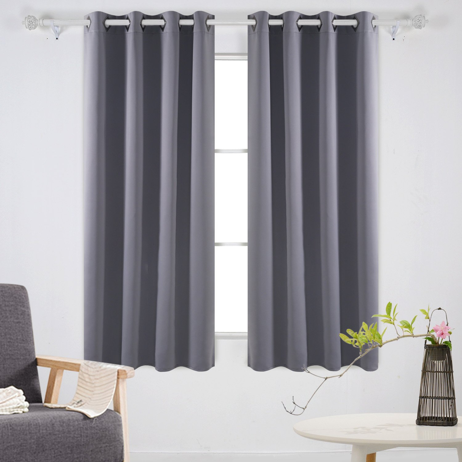 Amazon.com: Deconovo Solid Room Darkening Curtains Thermal ...