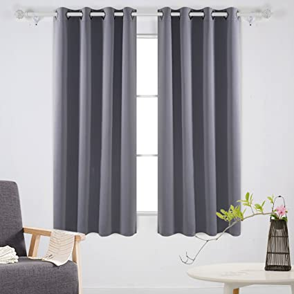 Charmant Deconovo Solid Room Darkening Curtains Thermal Insulated Blackout Curtains  Grommet Blind Curtains For Living Room 52W