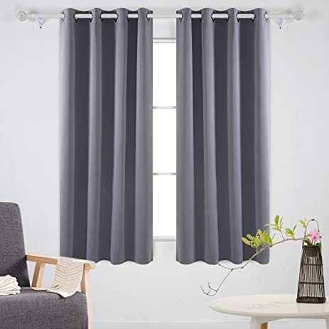 Deconovo Solid Room Darkening Curtains Thermal Insulated Blackout Curtains  Grommet Blind Curtains For Living Room 52W