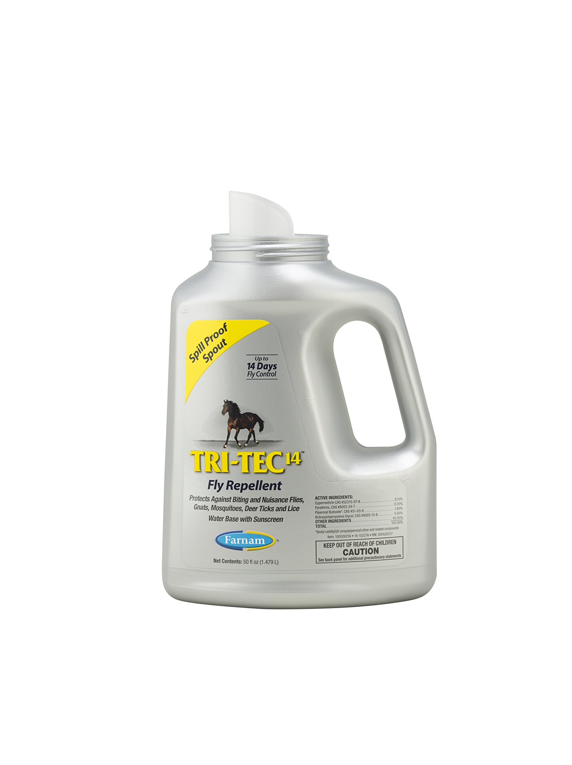 Farnam Tri-Tec 14 Fly Repellent, 50 fl oz Easy Pour Spout