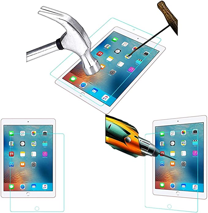Acm Tempered Glass Screenguard compatible with Apple Ipad 9.7 2017 A1823 Tablet Screen Guard Touch Screen Tablet Screen Protectors