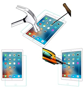 Acm Tempered Glass Screenguard Compatible with Apple Ipad Air 1  amp; 2 Tablet Screen Guard Scratch Protector Tablet Accessories