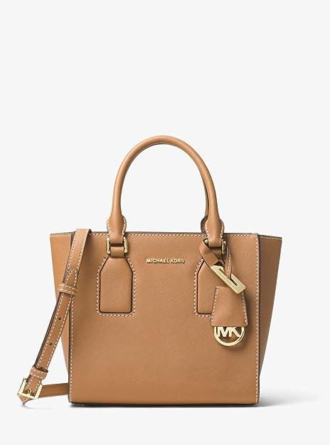 07b84fb644 MICHAEL KORS SELBY ACORN SAFFIANO LEATHER MEDIUM MESSENGER BAG  Amazon.ca   Shoes   Handbags
