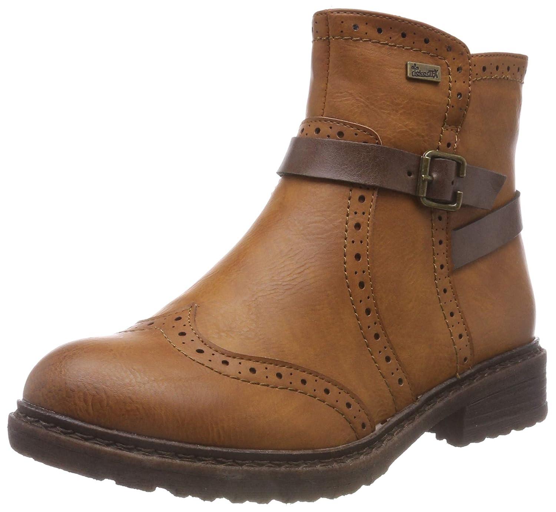 Rieker Damen Boot braun 94771 24   Schwarze lederschuhe