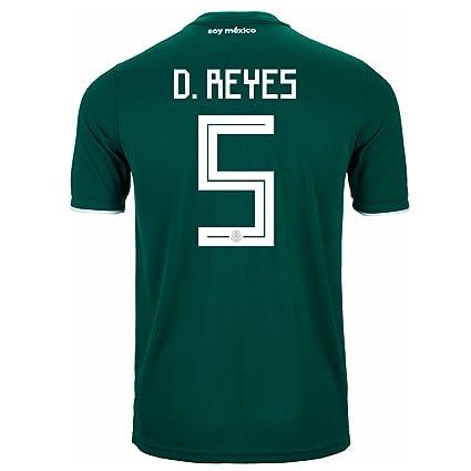 0da9c5017c98e Amazon.com : adidas D. Reyes #5 Mexico Home Soccer Stadium Men's ...