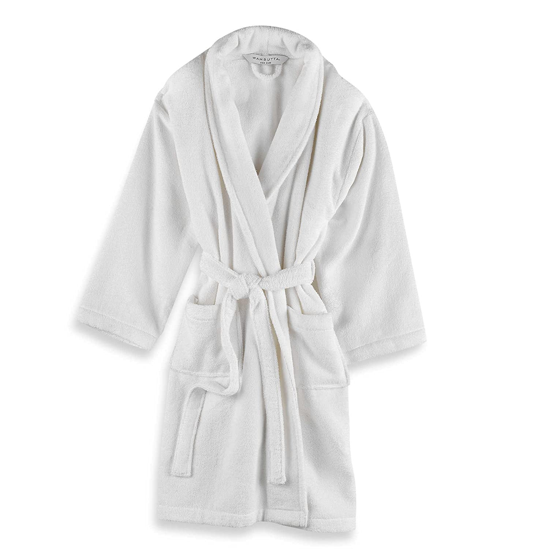 amazing quality hot sale picked up Wamsutta Unisex Terry Bathrobe in White