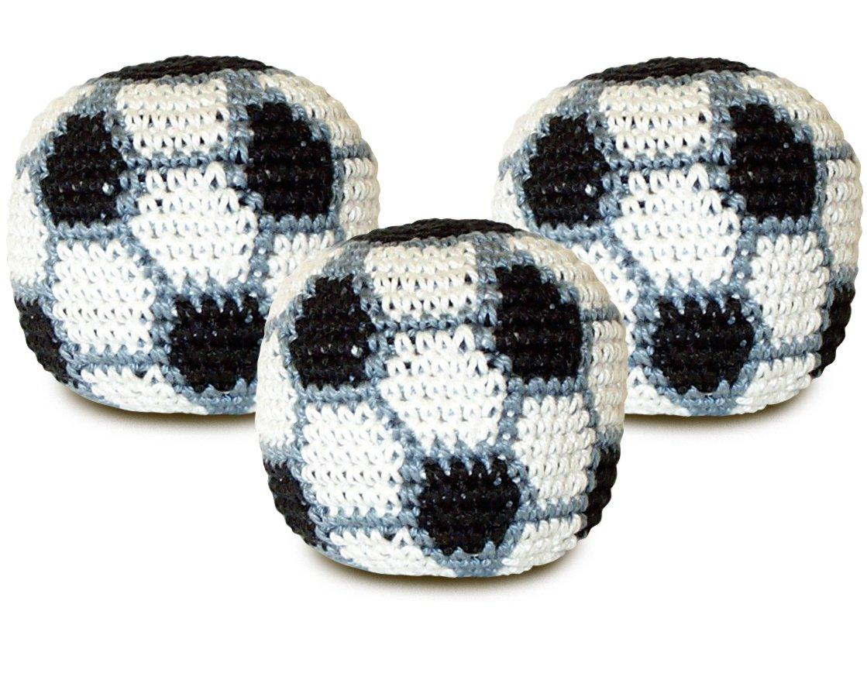World Footbag Soccer Hacky Sack Footbag, 3 Pack by World Footbag