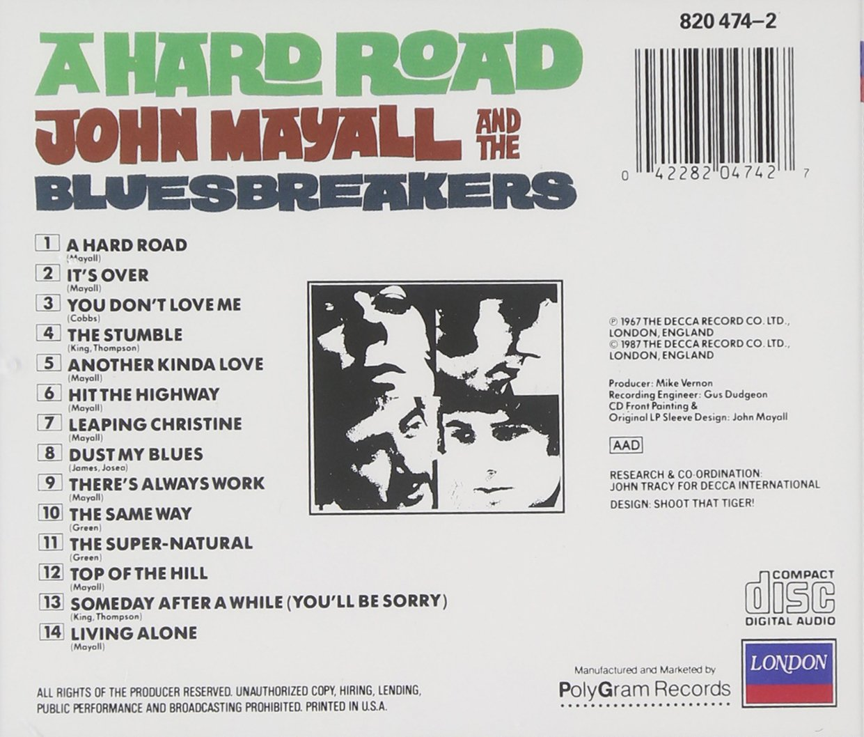 John Mayall and the Bluesbreakers - A Hard Road - Amazon.com Music