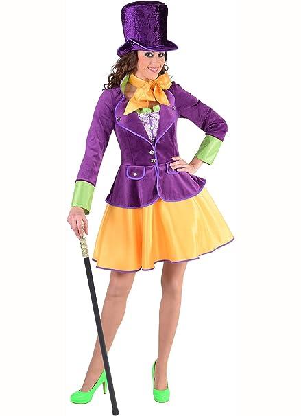 Hembra Willy Wonka disfraz + gorro