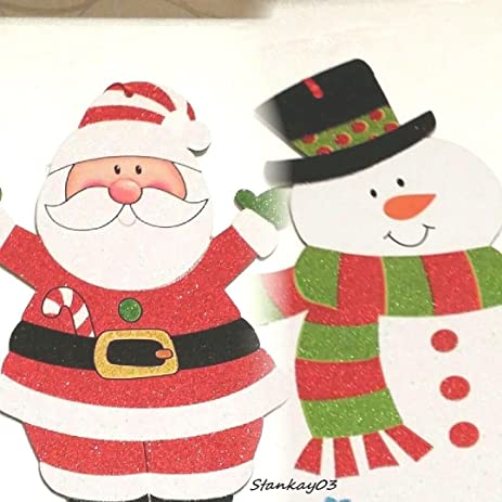 santa claus christmas decorations indoor snowman set hanging wall and door decor
