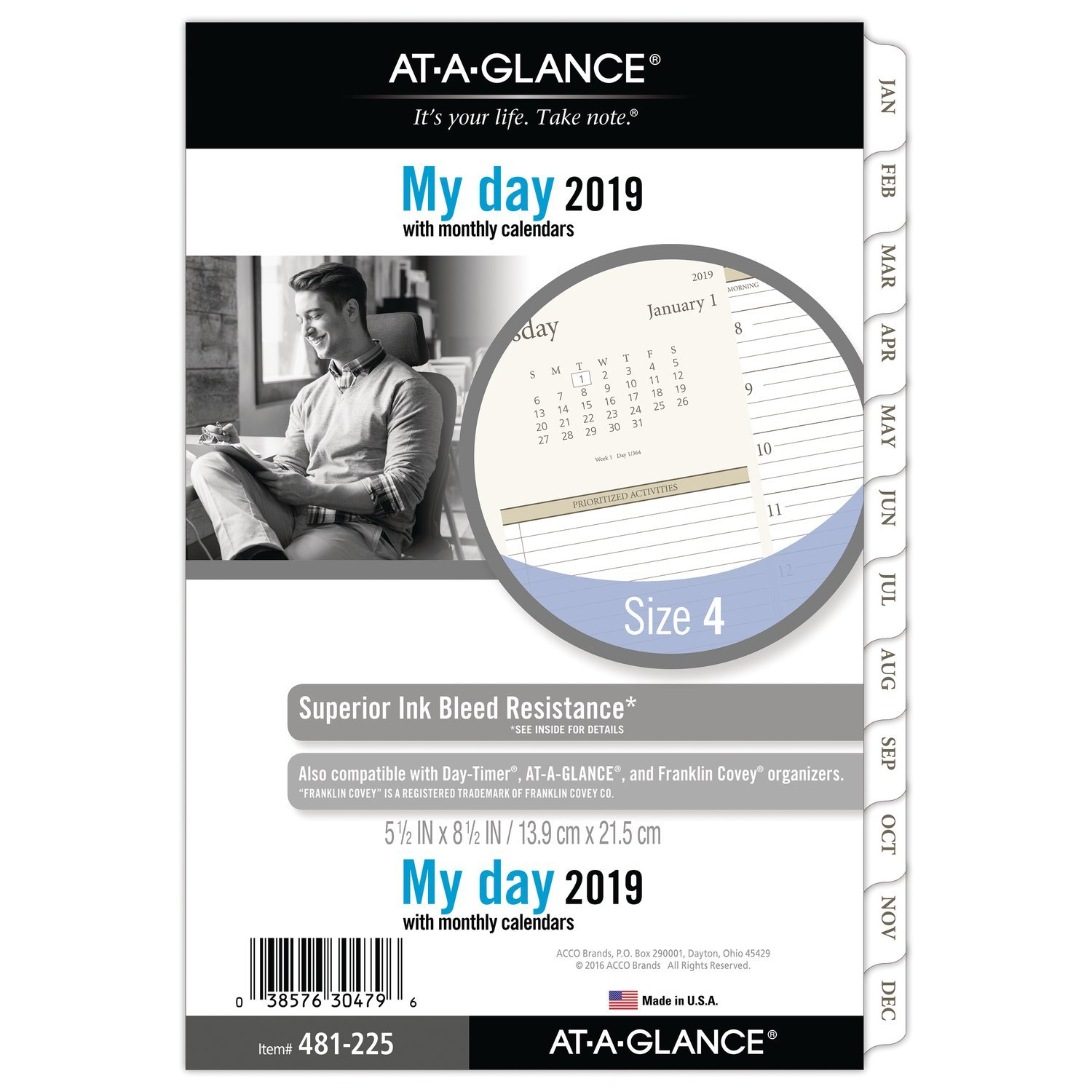 amazon com at a glance 2019 refill day runner 5 1 2 x 8 1 2