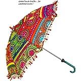 Little India Colorful Design Rajasthani Umbrella Handicraft