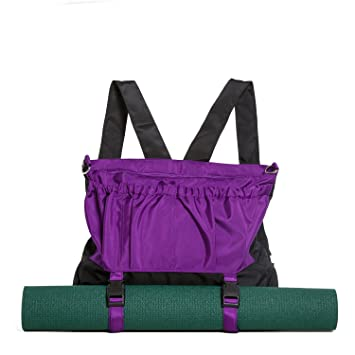 efcc4c38c385 Multi-Purpose Yoga Mat Bag and Backpack - Exercise Yoga Tote Bag with  Multiple Pockets