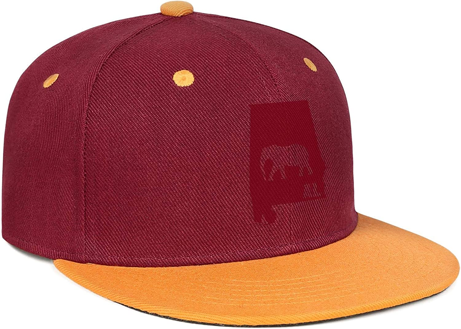 Alabama Al Classic Elephant Mens Womens Dad Hats Fit Snapback Flat Bill Caps