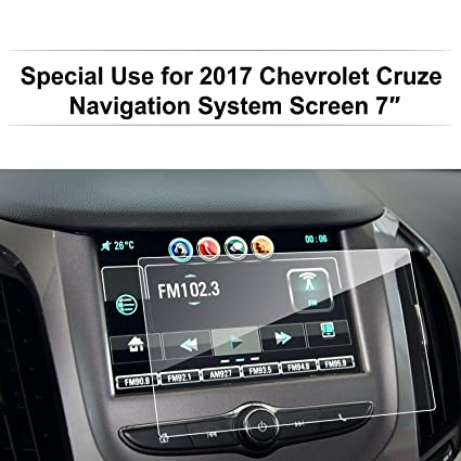 LFOTPP 2016-2018 Chevrolet Cruze 7 Inch MyLink Car Navigation Screen  Protector Glass, [9H] Clear Tempered Glass Center Touch Screen Protector  Against