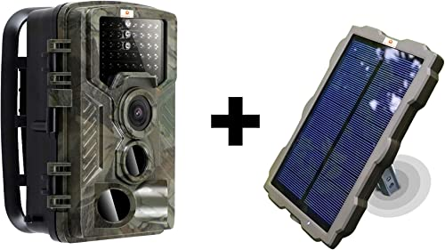 Pet Livestock HQ Hunting Trail Game Camera Solar Portable Battery Night Vision 16 MP 1080p Video Waterproof Spy Wildlife Home Surveillance Security Cam