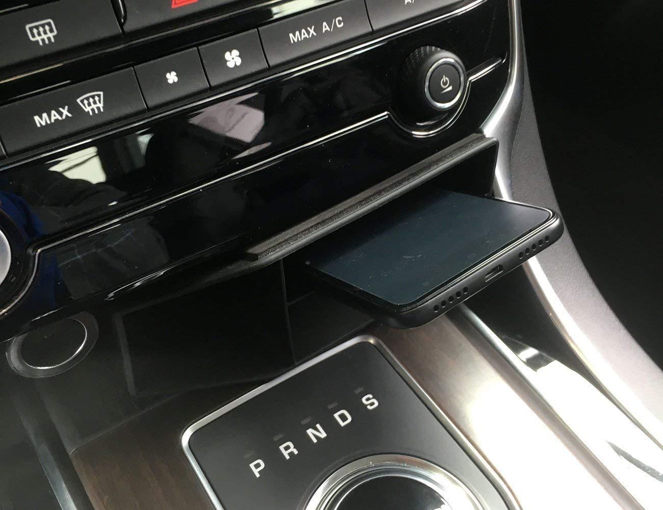 Bandeja del telé fono de la caja de almacenamiento multifuncional central plá stica de la consola para XF 2016 2017 XFL, XE, XEL negro Auto-broy