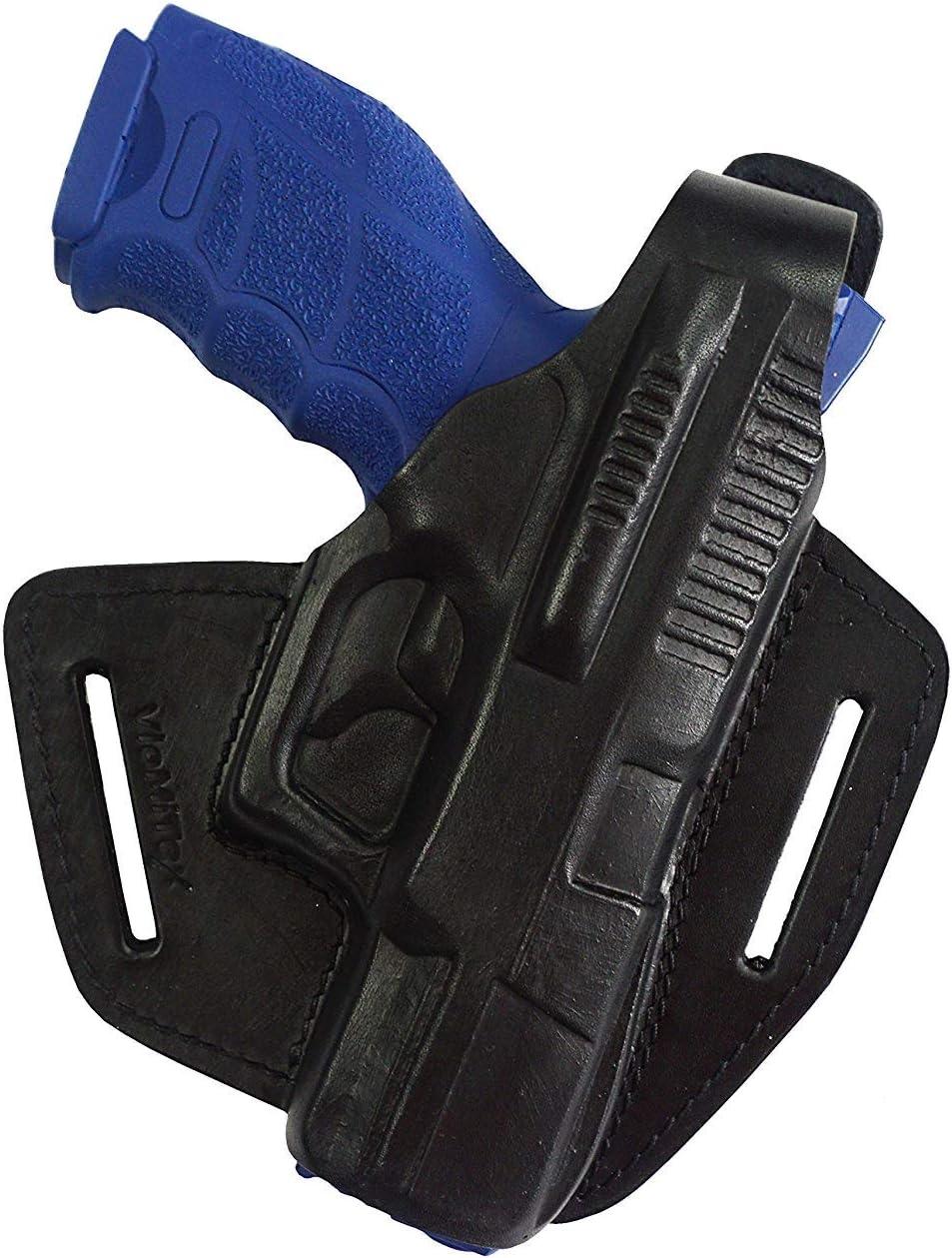 VlaMiTex B5 Pistolera 100% de Cuero, para Pistolas Hekler und Koch SFP9, VP9 y HK, Negro
