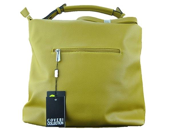 COVERI COLLECTION Borsa donna a secchiello colore giallo