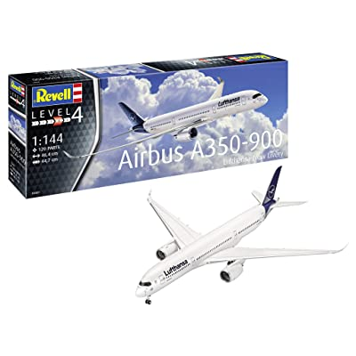 Revell 03881 1:144 Airbus A350-900 Lufthansa New Livery Plastic Model Kit: Toys & Games