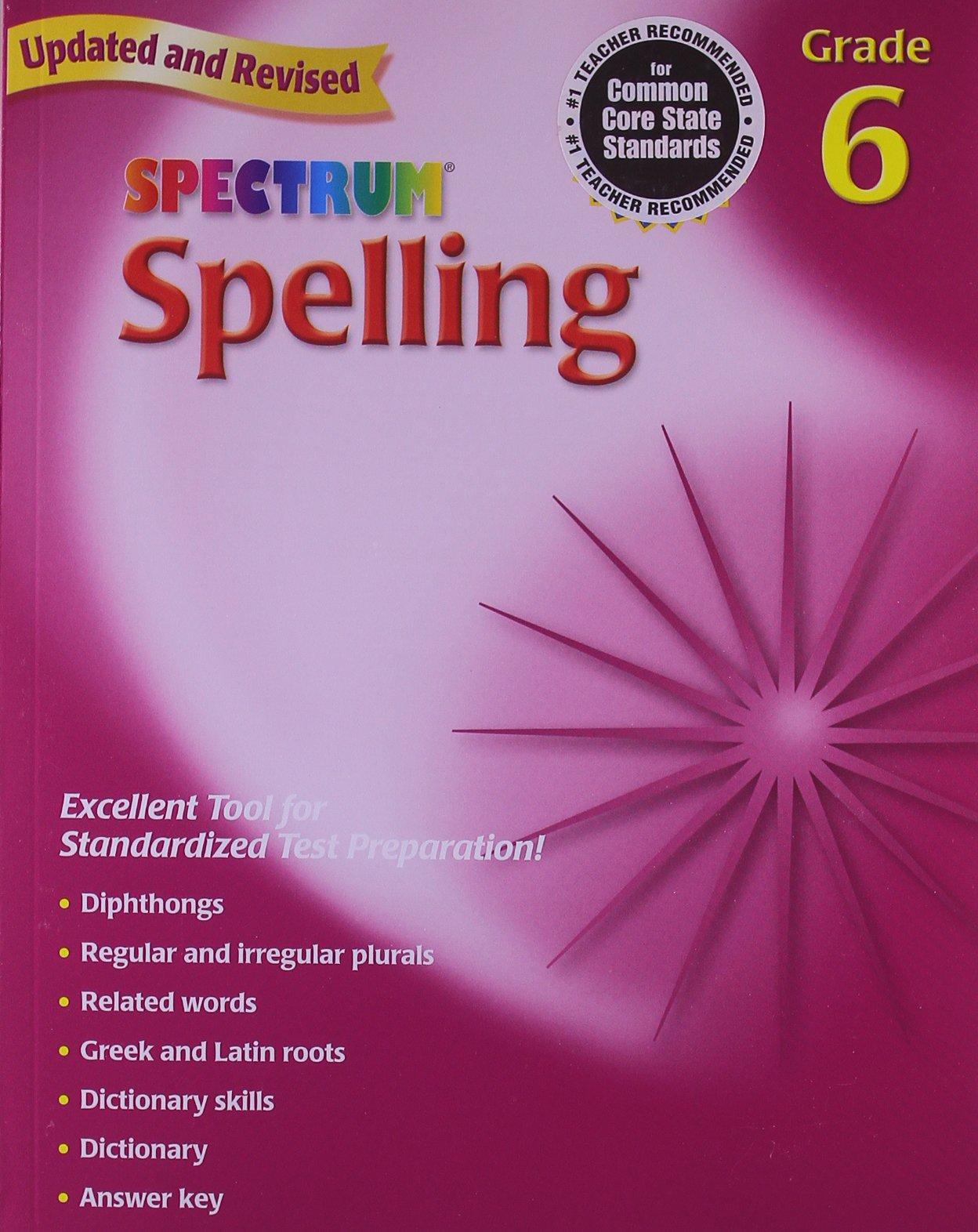 Amazon.com: Spelling, Grade 6 (Spectrum) (9780769652665): Spectrum ...