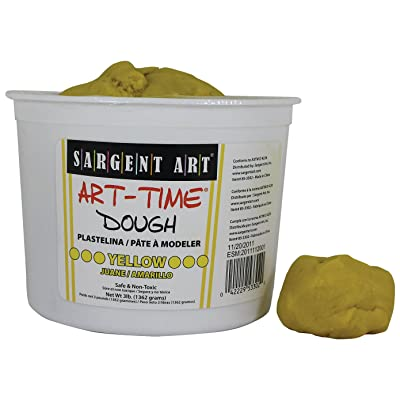 Sargent Art 85-3302 3-Pound Art-Time Dough, Yellow: Arts, Crafts & Sewing