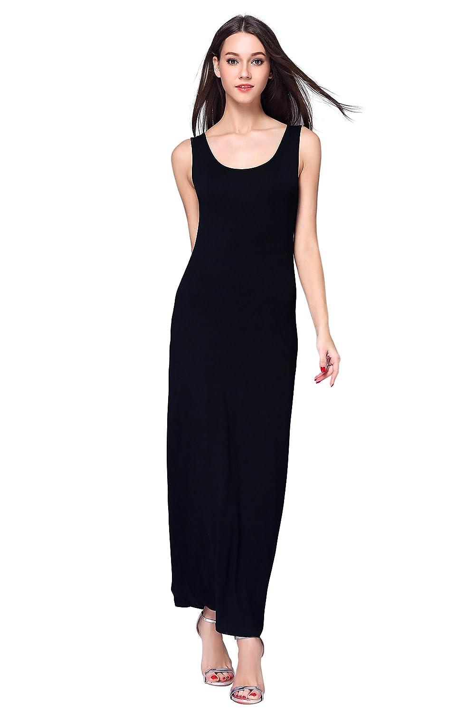 36ae9feff22 HIKA Women s Casual Sleeveless Tank Top Long Maxi Dress at Amazon Women s  Clothing store