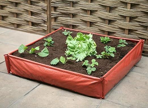 Jardinera elevada de plástico grande con bolsa de cultivo y ...