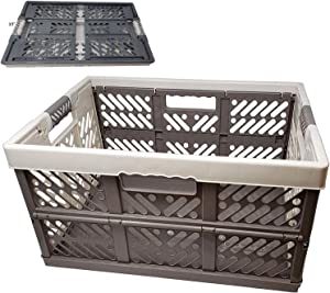 Collapsible Laundry Basket Plastic Storage Bins with Reinforced Soft Touch Handles BPA Free - Asstd Colors (1)