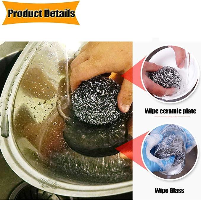 color al azar 3 esponjas de acero inoxidable rectangulares para limpiar ollas cuencos y pa/ños de limpieza