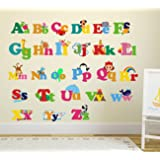 Wallstick 'Colorful Alphabets' Wall Sticker (Vinyl, 49 cm x 4 cm x 4 cm)