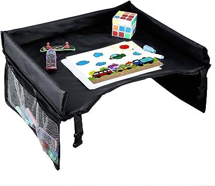 en ella el beb/é juega ISKIP Mesa-bandeja impermeable para ni/ños para interior y al aire libre avi/ón port/átil para coche para tren aprende y est/á activo