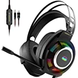 Monster Mission V1 Gaming Headset PS5 Headset Xbox One Headset,Over-Ear Gaming Headphone with Noise Cancelling Microphone,Col