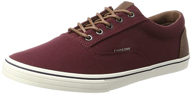 Mens Jfwvision Mixed Port Royal Low-Top Sneakers, Red, 8 UK Jack & Jones
