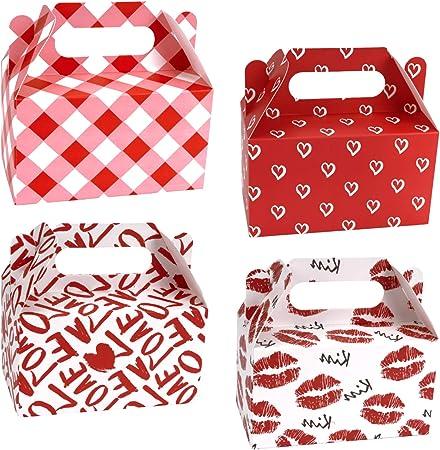 RUSPEPA Paquete De 12 Cajas De Golosinas para El Día De San Valentín - Caja De Cartón