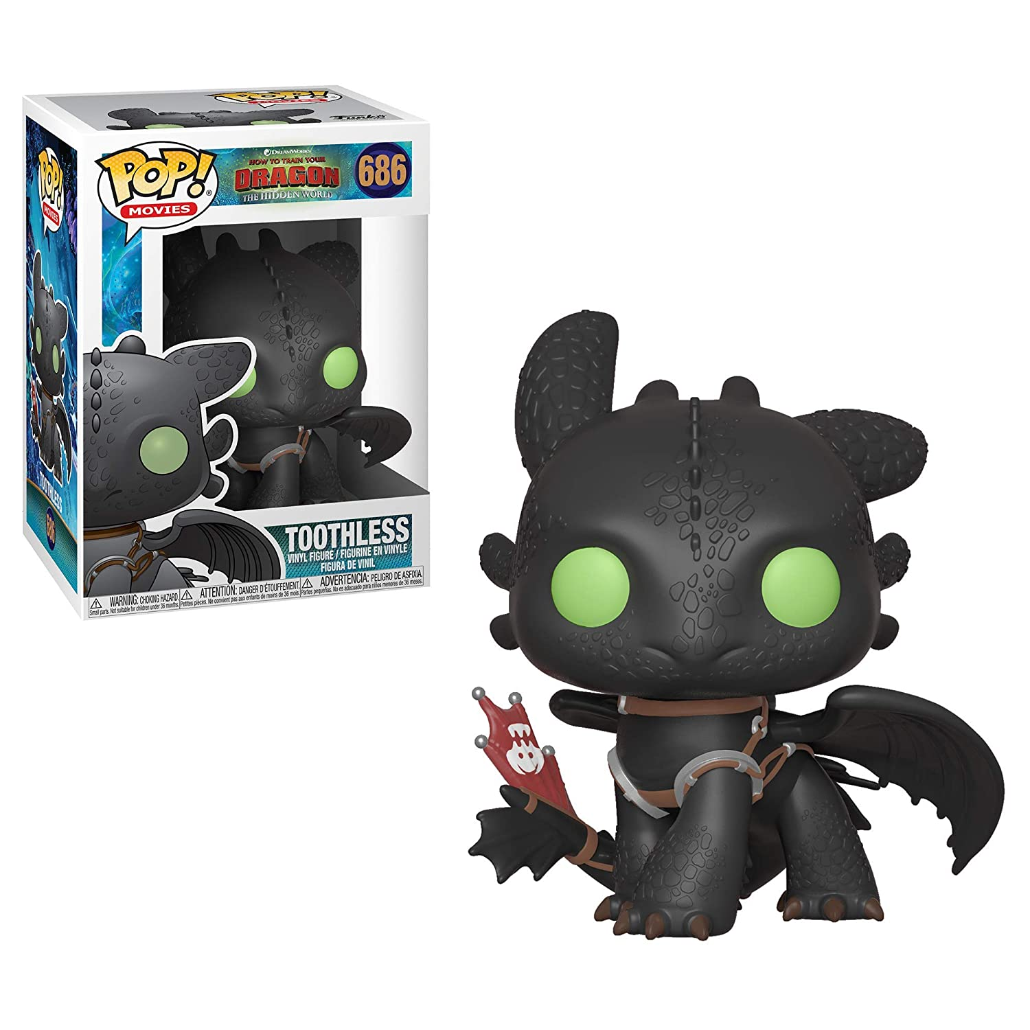 Movies Toothless 36355 How to Train Your Dragon 3 Funko Pop