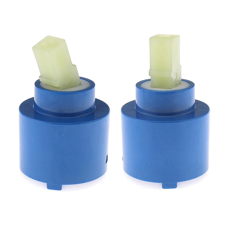 Lot de 2cartouches à disques en céramique 35mm/40mm Pour robinet mitigeur à levier de baignoire douche lavabo Pour remplacement/réparation, 35mm Create Idear