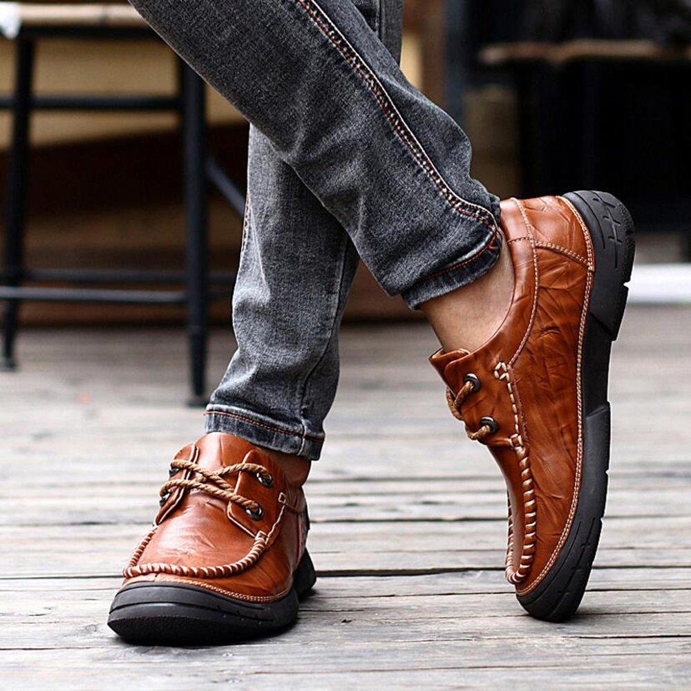 GAOLIXIA Cushion Walk - Forrado en Piel, Ligero, Forrado, Forrado, Forrado, de Trabajo Formal, con Cordones, Ajustados, Zapatos Casuales (Color : Marrón, tamaño : 44) 4162f7