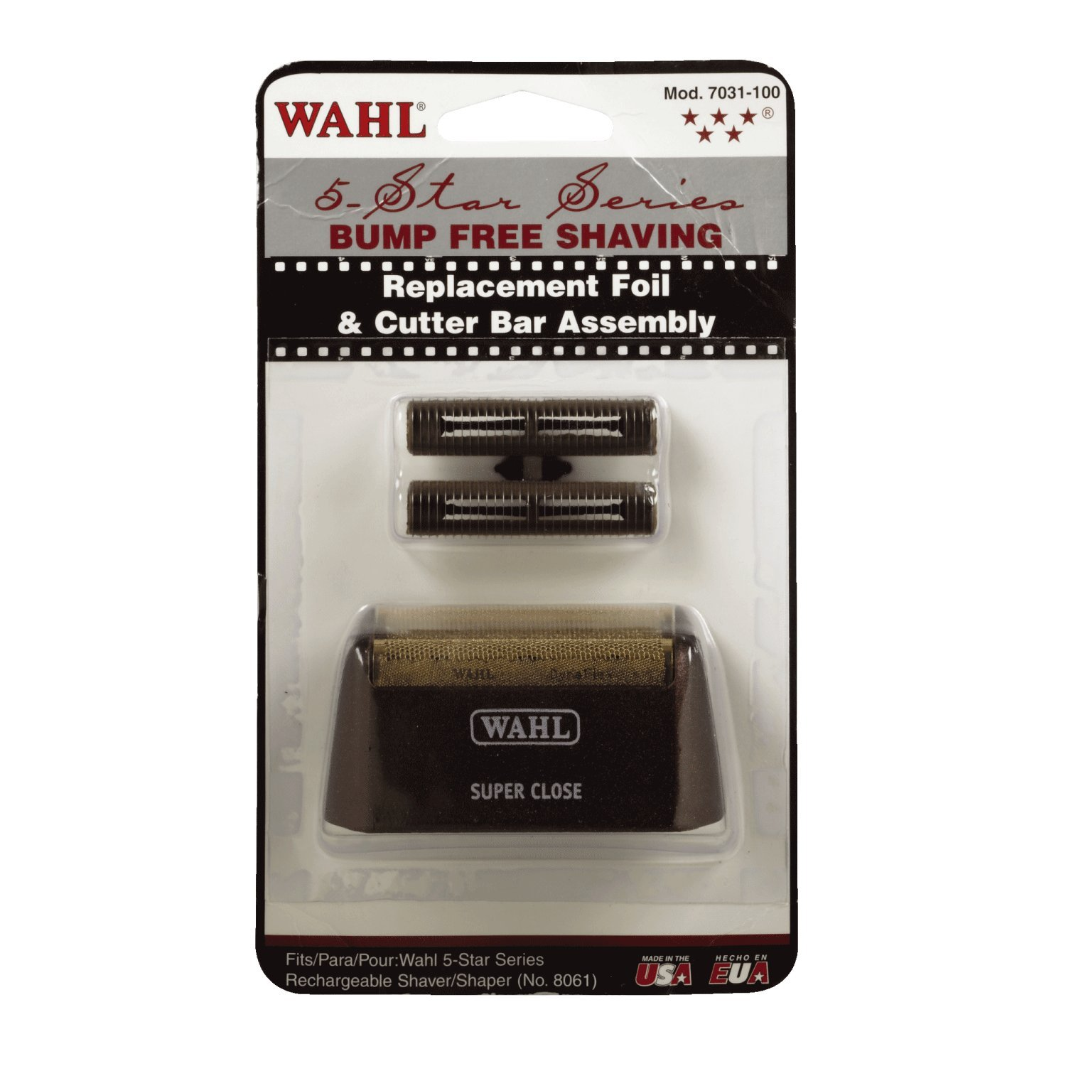 Wahl Professional Five Star Series #7031-100 Replacement Foil and Cutter Bar Assembly – Red & Gold – Super Close